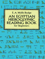 Egyptian Hieroglyphic Reading Book for Beginners