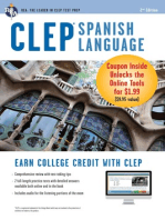 CLEP Spanish Language Book + Online