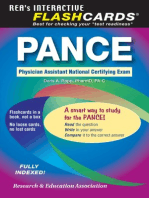 PANCE (Physician Assistant Nat. Cert Exam) Flashcard Book