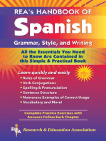REA's Handbook of Spanish Grammar, Style and Writing