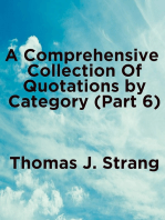 A Comprehensive Collection of Quotations by Category (Part 6)