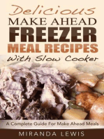 Delicious Make Ahead Freezer Meal Recipes With Slow Cooker