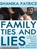 Family Ties and Lies - A Sexy BBW Interracial BWWM Erotic Romance Short Story from Steam Books
