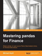 Mastering pandas for Finance