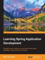 Learning Spring Application Development