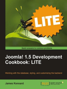 Joomla! 1.5 Development Cookbook: LITE