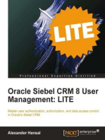 Oracle Siebel CRM 8 User Management