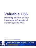 Valuable OSS - Delivering a Return on Your Investment in Operational Support Systems (OSS)