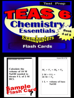 TEAS 6 Test Prep Chemistry Review--Exambusters Flash Cards--Workbook 4 of 5
