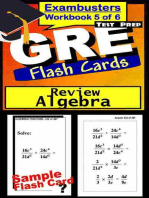 GRE Test Prep Algebra Review--Exambusters Flash Cards--Workbook 5 of 6: GRE Exam Study Guide