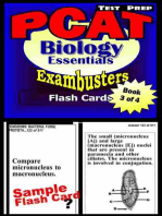 PCAT Test Prep Biology Review--Exambusters Flash Cards--Workbook 3 of 4