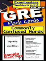 GRE Test Prep Commonly Confused Words Review--Exambusters Flash Cards--Workbook 4 of 6: GRE Exam Study Guide