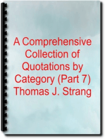 A Comprehensive Collection of Quotations by Category (Part 7)