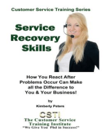 Service Recovery Skills (Customer Service Training Series, #7)