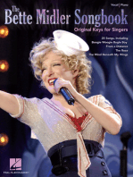 The Bette Midler Songbook - Original Keys for Singers