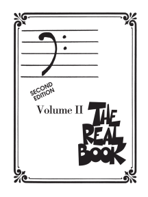 The Real Book - Volume II - Second Edition: Bass Clef Edition