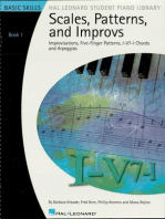 Scales, Patterns and Improvs - Book 1: Improvisations, Five-Finger Patterns, I-V7-I Chords and Arpeggios