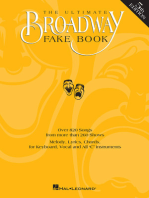 The Ultimate Broadway Fake Book - 5th Edition