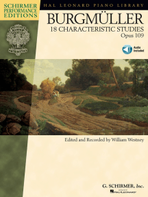 Johann Friedrich Burgmüller - 18 Characteristic Studies, Opus 109: Piano edited and recorded by William Westney Schirmer Performance Editions