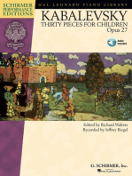 Dmitri Kabalevsky - Thirty Pieces for Children, Op. 27: With recordings of Performances Schirmer Performance Editions