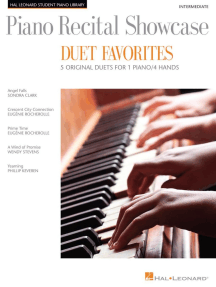Piano Recital Showcase - Duet Favorites: National Federation of Music Clubs 2014-2016 Selection 1 Piano, 4 Hands/Intermediate Level