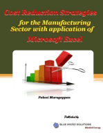 Cost Reduction Strategies for the Manufacturing Sector With Application of Microsoft Excel