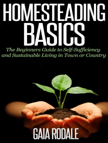 Homesteading Basics: The Beginners Guide to Self-Sufficiency and Sustainable Living in Town or Country (Sustainable Living & Homestead Survival Series)