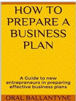 How to prepare a business plan (Entrepreneurship and Small Business 1, #1)