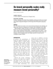 Research on the Concept of Brand Personality