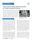 Study on Industrial Revolution in the United States