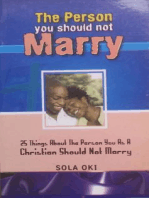 The Person You Should Not Marry