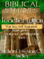 Biblical Studies Teacher Edition Part Two