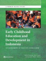 Early Childhood Education and Development in Indonesia: An Assessment of Policies Using SABER