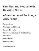 Families and Households Revision Notes for AS and A Level Sociology