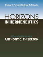Horizons in Hermeneutics
