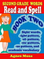 Second Grade Words Read And Spell Book two