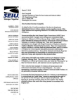SEIU letter on arrest and detention of 43 health workers in the Philippines