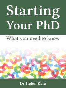 Starting Your PhD: What You Need To Know: PhD Knowledge, #1