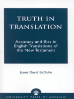 Truth in Translation