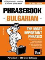 English-Bulgarian phrasebook and 250-word mini dictionary