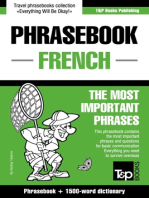 English-French phrasebook and 1500-word dictionary