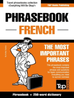 English-French phrasebook and 250-word mini dictionary