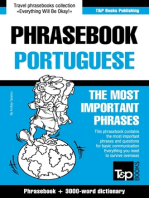 English-Portuguese phrasebook and 3000-word topical vocabulary