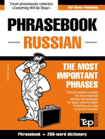 English-Russian phrasebook and 250-word mini dictionary