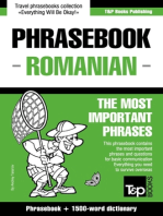 English-Romanian phrasebook and 1500-word dictionary