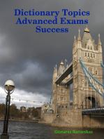 Dictionary Topics Advanced Exams Success