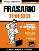 Frasario Italiano-Tedesco e mini dizionario da 250 vocaboli