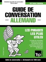 Guide de conversation Français-Allemand et dictionnaire concis de 1500 mots