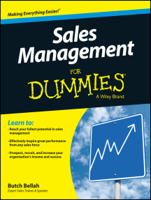 Sales Management For Dummies