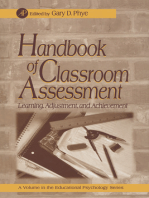 Handbook of Classroom Assessment: Learning, Achievement, and Adjustment